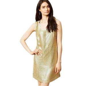 Tabitha size 2p gold sleeveless Sheath dress